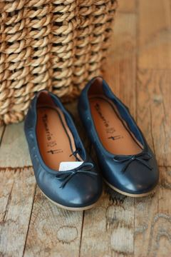 Bilde av Navy leather ballerina